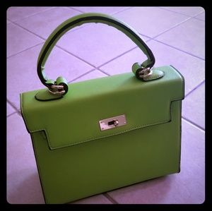 Handbags - Lime Green Small Kelly Style Bag